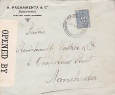 1916 Colombia #317 or #317a on cover, Buenaventura to England *d