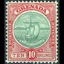 GRENADA 1908 Green & Red on Green. SG 83. Lightly Hinged Mint. (AT034)