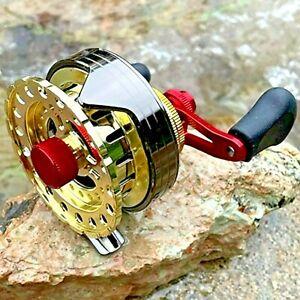 NEW Raft Fishing Reel Wheel Roller Coil 7 BB10kg Lightweight Ice Fly 2.6:1 Alloy