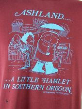 Vintage 80s Ashland Oregon Hamlet Jerzees Russell 50/50 T Shirt L Made in USA