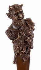 Wiener Bronze Skulptur - Faun Büste - mit Stempel