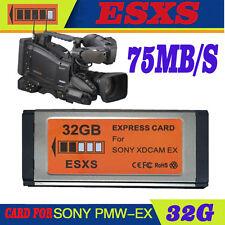 ESXS SXS 32GB XDCAM EX Express Card Replace SONY SBS-32GB  EX1R/EX3R/EX280