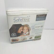 "12"" SafeRest Premium Waterproof Zippered Bed Bug Proof Mattress Encasement (U)"