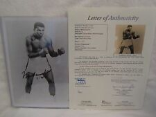 Muhammad Ali Autographed 8x10 Black & White Photo w/Date Insc. - Full JSA L.O.A.