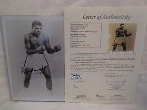 Muhammad Ali Autographed 8x10 Black & White Photo w/Date Insc. - Full JSA L.O.A.
