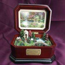 New Listing2007 Thomas Kinkade Garden of Prayer Music Box You'll Never Walk Alone (1B1)