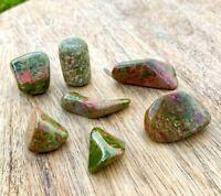 Unakite Tumbled Stone Reiki Yoga Gift Crystal Natural Gemstone