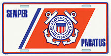 US COAST GUARD USCG SEMPER PARATUS METAL LICENSE PLATE - MADE IN THE USA!