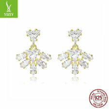 Elegant Ear Stud Jewelry Gifts New Authentic 100% 925 Sterling Silver Earrings