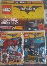Lego Batman + Batman + Harley Quinn Figure foilbags MAGAZINE Comic 2018