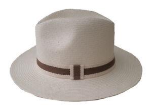 Panama Hat Gr.56 Straight Brim soft Hat Cream Fiber From Toquillas