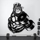 Gorilla Bodybuilder Gym Fitness Wall Decals Show Strong Sticker Vinyl Home Decor