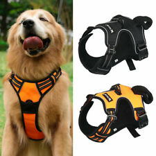 No Pull Dog Vest Harness With Handle Easy On / Off Adjustable Collar Outdoor UK