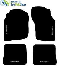 Teppiche Mitsubishi lancer EVO 6 99-01! Stickerei: Evolution VI weiß + 4