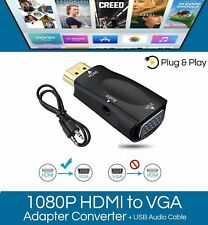 1080P HDMI Male to VGA Female Adapter Video Converter With Audio Cable Output