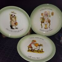 Set of 3 HOLLY HOBBIE Vintage Collector's Edition Plates Various Designs