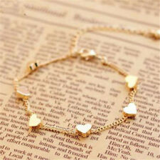 Bracelet Barefoot Sandal Beach Foot Jewelry☆ Fd4127 Gold Chain Anklet Heart Love