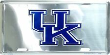 University of Kentucky Wildcats Chrome Metal Car License Plate Auto Tag Sign