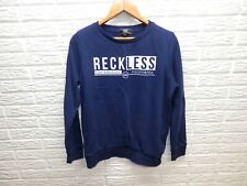 Woman's Young & Reckless Blue Crewneck Graphic Sweatshirt Size M