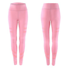 Womens High Waist Yoga Fitness Leggings Gym Stretchy Sports Slim Pants Trousers