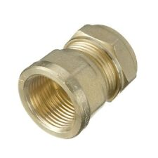 "Compression 15mm Copper to 1/2"" BSP Brass Female Iron Thread Connector Adapter"