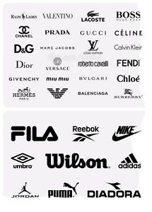 Nike Adidas Tommy Calvin Guccii Iron On Tshirt Logo Transfers Mixed Lot 10 Logos