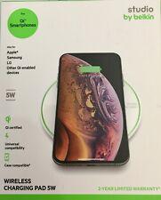 Belkin Studio 5W UNIVERSAL WIRELESS CHARGING PAD Qi-Certified iPhone Samsung LG