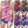 Women Summer Camouflage Tank Vest Top Casual Beach Sleeveless T Shirt Tee Blouse