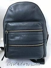 $495 NWT Marc Jacobs Leather Biker Backpack Storm Grey M0008134 With Dust Bag