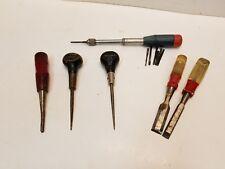 Stanley Handyman Yankee No.46 Spiral Screwdriver, Stanley Chisels, Scratch Awl
