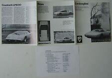 Lamborghini Range Countach Espada Jarama Urraco 1975-76 Original UK Brochure