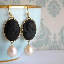 Gold Plated Pearl Earrings Vintage & Antique Jewellery