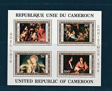 Cameroun  bloc   tableaux  noel  1976  num: BF 10  **