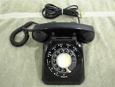 VINTAGE BLACK ROTARY DIAL TELEPHONE PHONE STROMBERG CARLSON 1543 DESK TAPLE