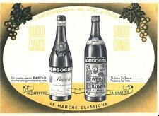 pb 17 - 1965 BORGOGNO BAROLO - Cartolina doppia con listino prezzi - viaggiata