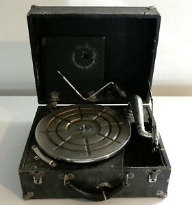 Old Antique Primitive PHONOGRAPH GRAMOPHONE with Crank FOR PARTS!