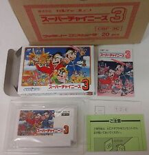 Super Chinese 3 NINTENDO NES JAP FAMICOM COMPLET NEUF BRAND NEW