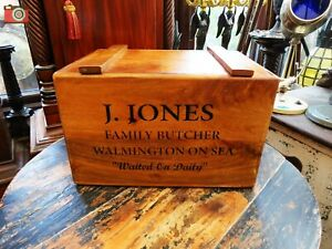 DADS ARMY VINTAGE ANTIQUE STYLE CRATE BOX. J.Jones Butcher. Great Fun Nice Gift