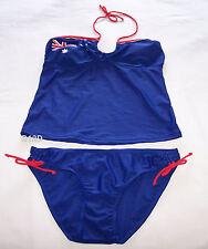 Wavezone Australian Flag Aussie Ladies Blue 2 Piece Tankini Bathers Size 12 New
