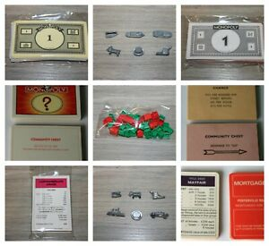 MONOPOLY BOARD GAME SPARES * Choice of Houses, Metal Pieces, Cards, Money, Rules