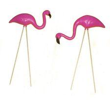 2 Small Pink FLAMINGO mini Lawn Ornaments Yard & garden art decor