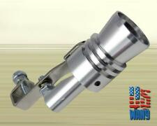 Silver JDM Turbo Sound Blow Off Hooter Valve Analog Fake BOV Muffler whistle X-L