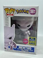 Funko Pop Pokemon Mewtwo Flocked SDCC 2020 Summer Convention Exclusive (NEW)