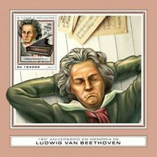 St Thomas - 2017 Ludwig van Beethoven - Stamp Souvenir Sheet-ST17406b