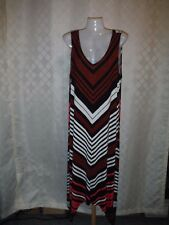 Sleeveless Maxi Dress LG APT.9 Multi Color Stripe 95% rayon 5% spandex