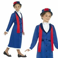Girls Childrens Victorian Nanny Mary Poppins Fancy Dress Costume World Book Day Age 12