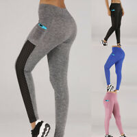 Damen Leggings Fitness Push Up Yoga Leggins Jogginghose Lang Slim Fit Hose+