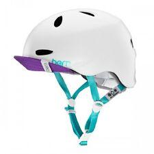 Bern Berkeley Ladies Bike Cycle Helmet Flip Visor Satin White Multi XS-S | M-L