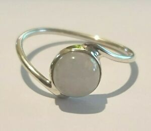 Brand New Sterling Silver 925 Moonstone Ring, Size P