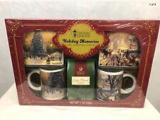 Thomas Kinkade Holiday Memories 2 mugs & 2 coaster set with Coffee